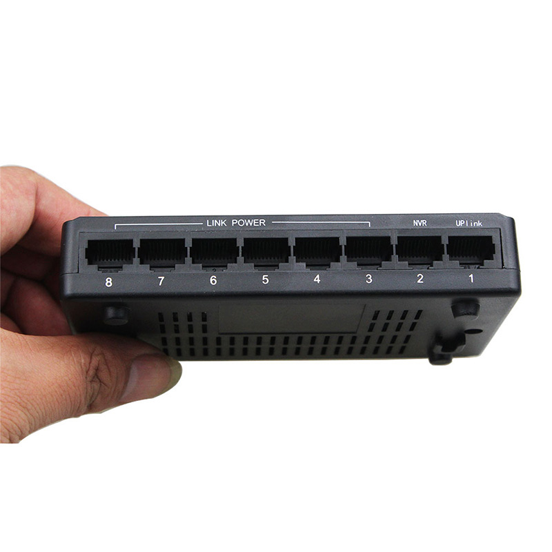 Venta caliente 100 Mbps IEEE802.3x 8 Puerto S conmutador POE Power Over Ethernet interruptor de red Ethernet para cámara IP VoIP teléfono dispositivos AP