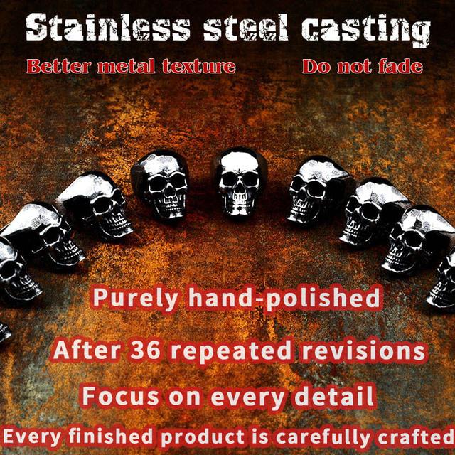 STAINLESS STEEL SKULL RINGS (6 VARIAN)