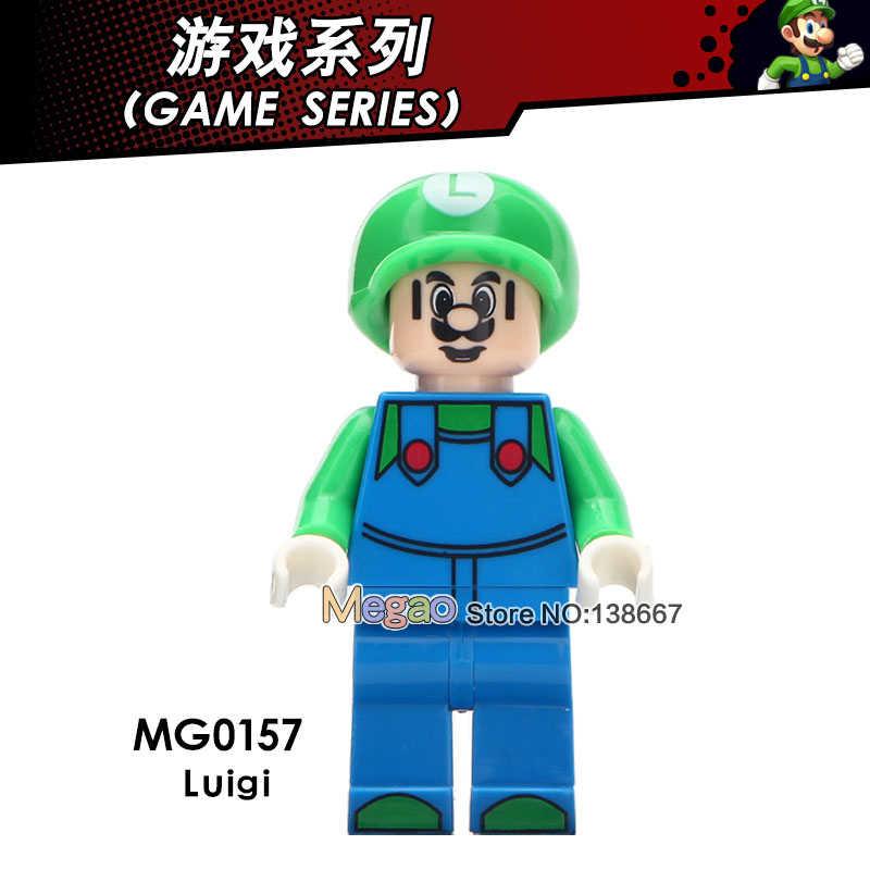 Singe Venda Ponto Stay Puft Legoing Amigos Super Bros Luigi Action Figure Building Block Brinquedos Para As Crianças
