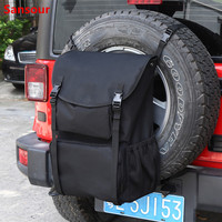 Tool Organizers Trunk Cargo Bags Spare Tire Storage Bag For Jeep Wrangler JK TJ YJ Luggage Multi Pockets Backpack Sansour