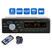 SOONHUA Bluetooth Audio MP3 Player Car Radio Stereo Player USB SD Head Unit In Dash Off Time Display Function With Remote Contro