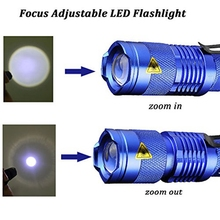 Mini Pocket CREE Q5 Led Flashlight 2000LM Tactical aluminum 3modes Zoomable Waterproof Led Torch Light Belt Clip USE AA/14500