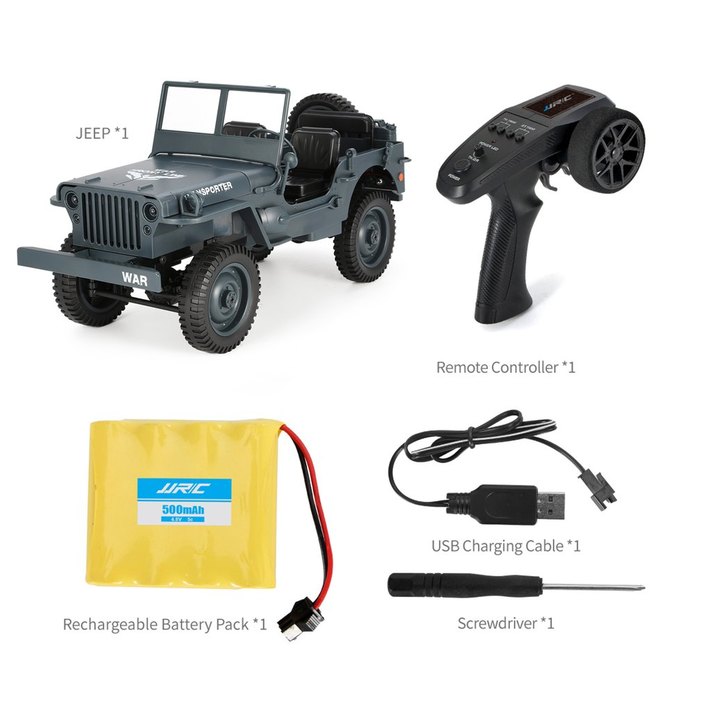 JJR/C Q65 1:10 RC 2.4G Convertible Remote Control Light Jeep Four-wheel Drive Off-road Military Truck Climbing Car Model ToysJJR/C Q65 1:10 RC 2.4G Convertible Remote Control Light Jeep Four-wheel Drive Off-road Military Truck Climbing Car Model Toys