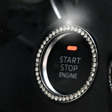 1Pcs  Car Styling Auto Engine Start Stop Decorative Ring Case Button Decoration Interior Cover Switch Key Accessories