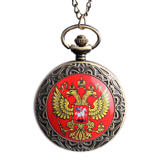 3 Type Retro Cross Supernatual/Hero/Double-headed Eagle Quartz Pocket Watch Women Men Necklace Pendant with Chian Birthday Gifts