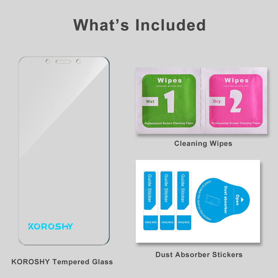 KOROSHY Real 2.5D 9H Tempered Glass for Xiaomi Redmi 6 Xiomi Redmi 6A Screen Protector 0.3mm Protective Toughened Glass Film (7)