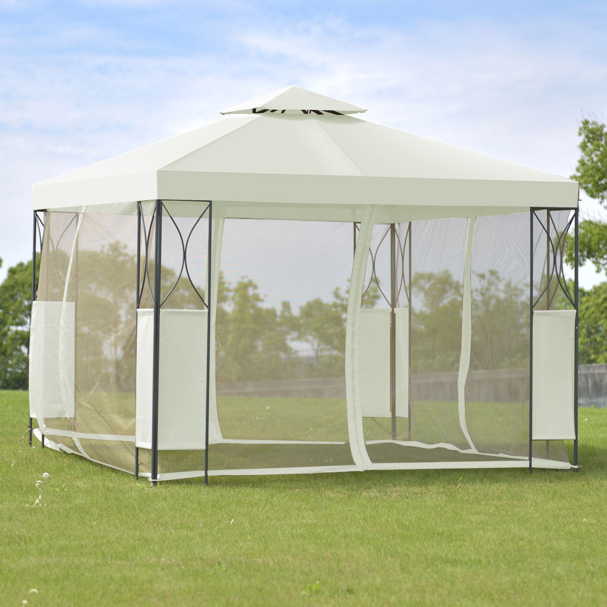 Goplus 2 Tier 10 X10 Gazebo Canopy Tent Shelter Wedding