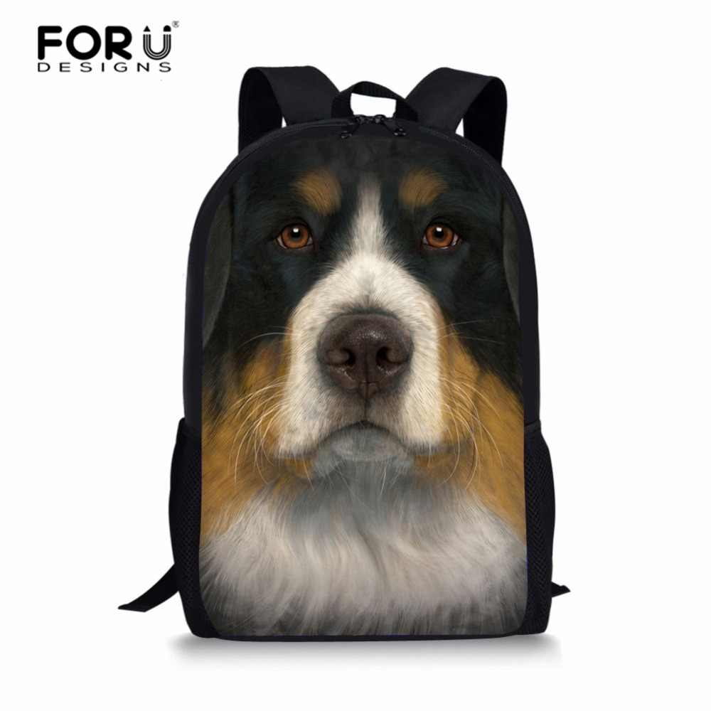 FORUDESIGNS Бернская горная переноски для собак для девочек-подростков, женская школьная сумка на плечо, рюкзак mochila, школьный рюкзак на заказ