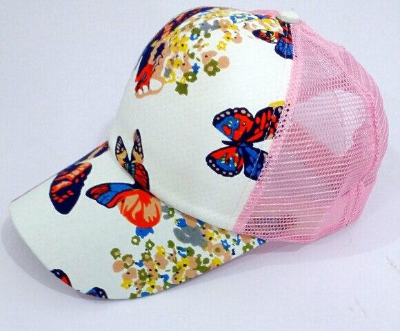 Apparel Accessories Smart 10pcs/lot Free Shipping Korean Style Woman Casual Butterfly Print Baseball Cap Net Patchwork Cap Summer Beach Cap Traveling Women's Hats
