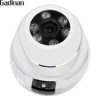 GADINAN ONVIF Metal Dome IP Network Camera Vanclproof 720P 960P 1080P Optional 6pcs Array Leds Waterproof
