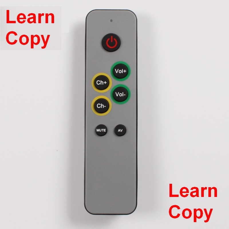 Learning Remote control for TV,STB DVB ,Receiver,DVD, 7 big buttons controller duplicate IR code,  easy use for old people caterham 7 csr