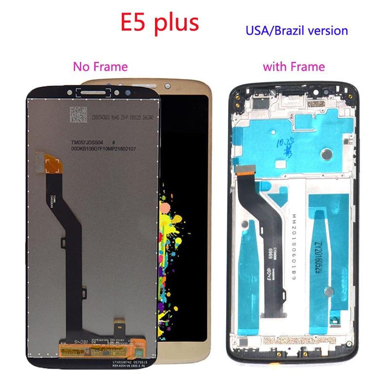 Polegada lcd Para Motorola Moto E5 6 Plus XT1924 Screen Display LCD de Toque Digitador Da Tela com Moldura de montagem Completa de peças