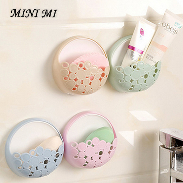 Creatieve mode badkamer sterke sucker zeepbakje badkamer eenvoudige ...