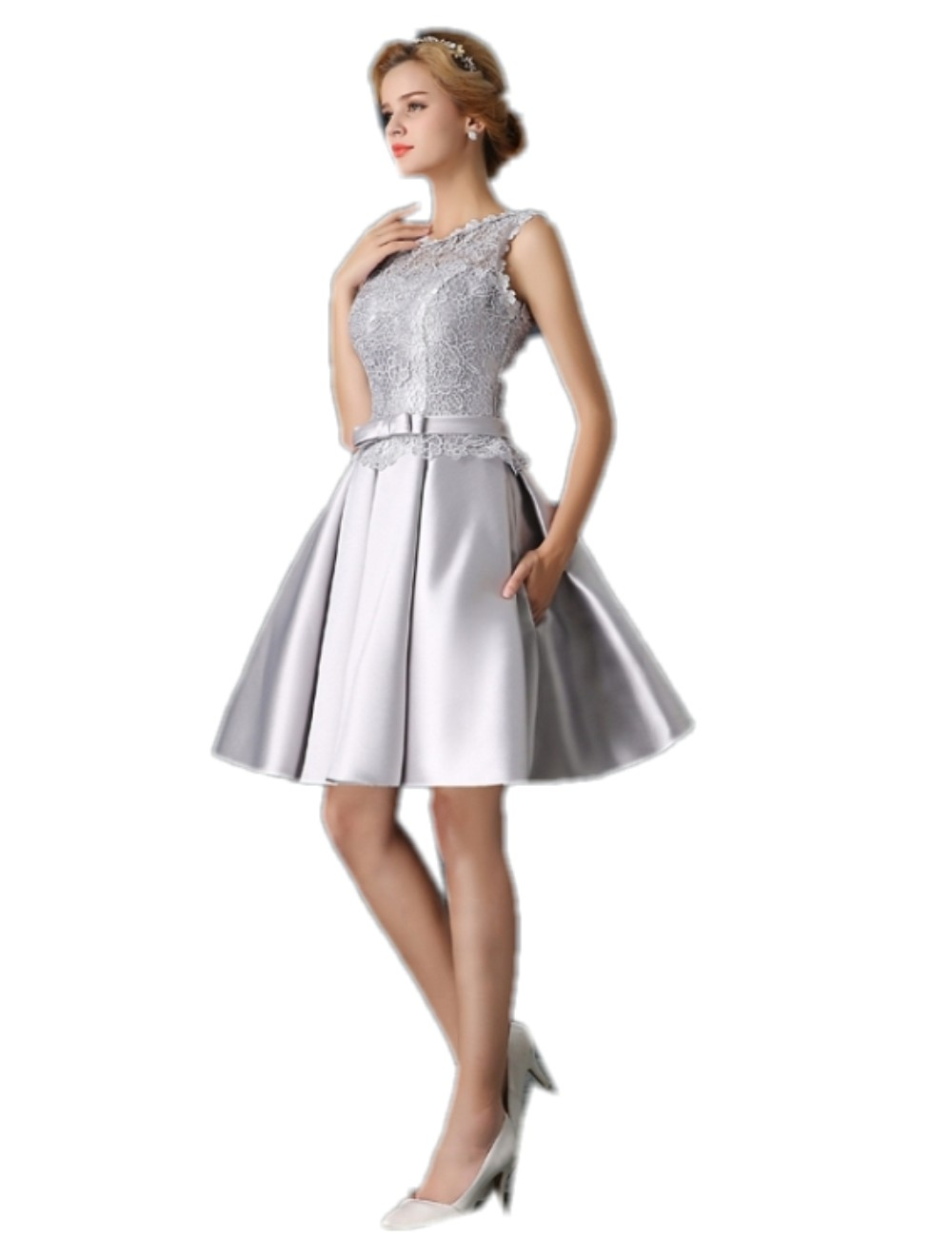 Online Get Cheap Short Silver Prom Dress -Aliexpress.com | Alibaba ...