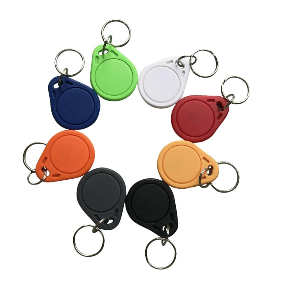 100pcs/lot RFID Key Fobs 13.56MHz Proximity ABS IC Tags NFC 1k Tag Access Controller