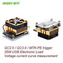Программное обеспечение онлайн USB тестер разряда ПОСТОЯННОГО ТОКА Нагрузки резистор QC2.0/3.0 MTK-PE Пусковое Напряжение Ток Монитор Емкость Батареи