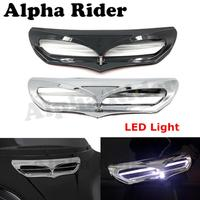 Batwing Kuip Vent Accent Trim w/LED Licht voor Harley Electra Glide Ultra Limited FLHTK/Street Glide Speciale FLHXS 2014-2017