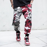 Camouflage Splice joggers pants Men Camo Streetwear Mens Cargo Pants Hip Hop Trousers Multi pocket Cotton Military Overalls Male