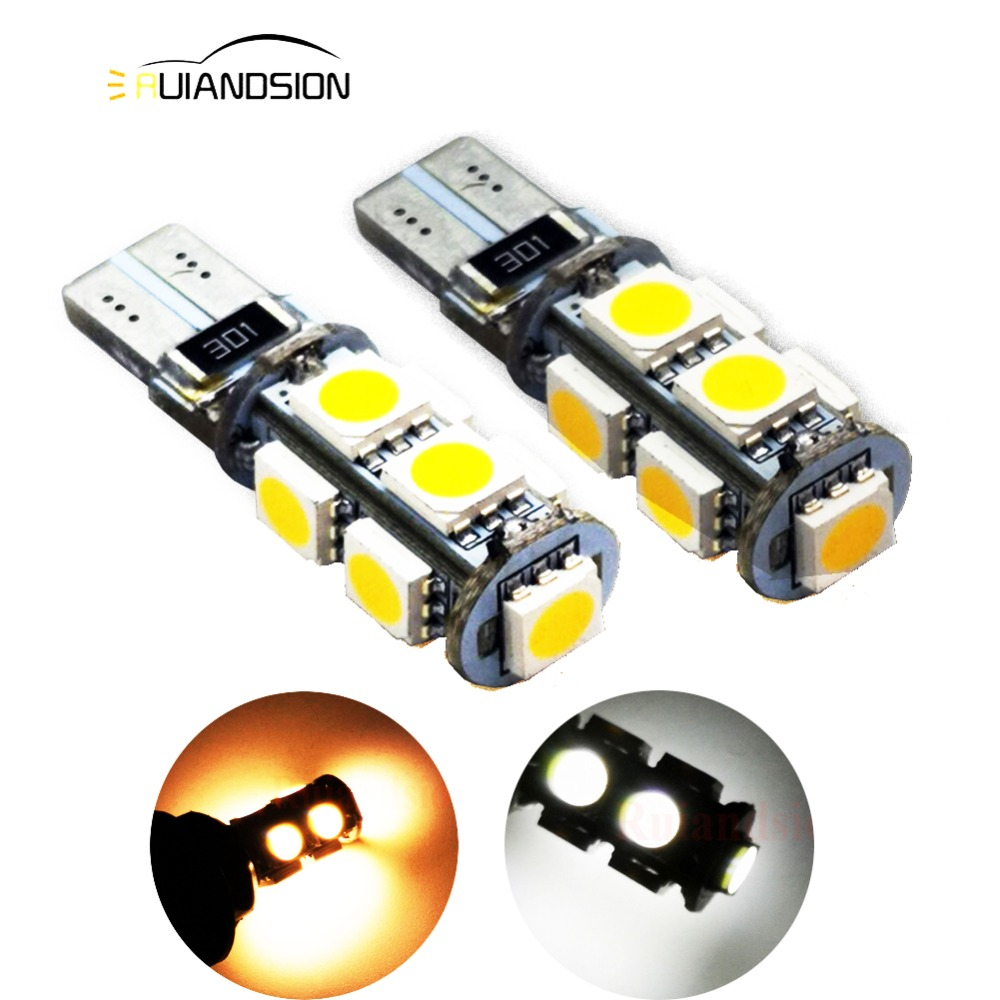 2pcs <font><b>4300K</b></font> Canbus Error Free <font><b>T10</b></font> W5W 5050 9SMD SMD <font><b>LED</b></font> High Power Car Auto Wedge Lights Parking Bulb Lamp DC 12V image