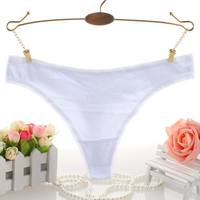 Cotton Sexy G-string Thongs Women Underwear Seamless Cotton Panties Plus Size Underwear Black Red White Skin Gray XL 2XL 3XL
