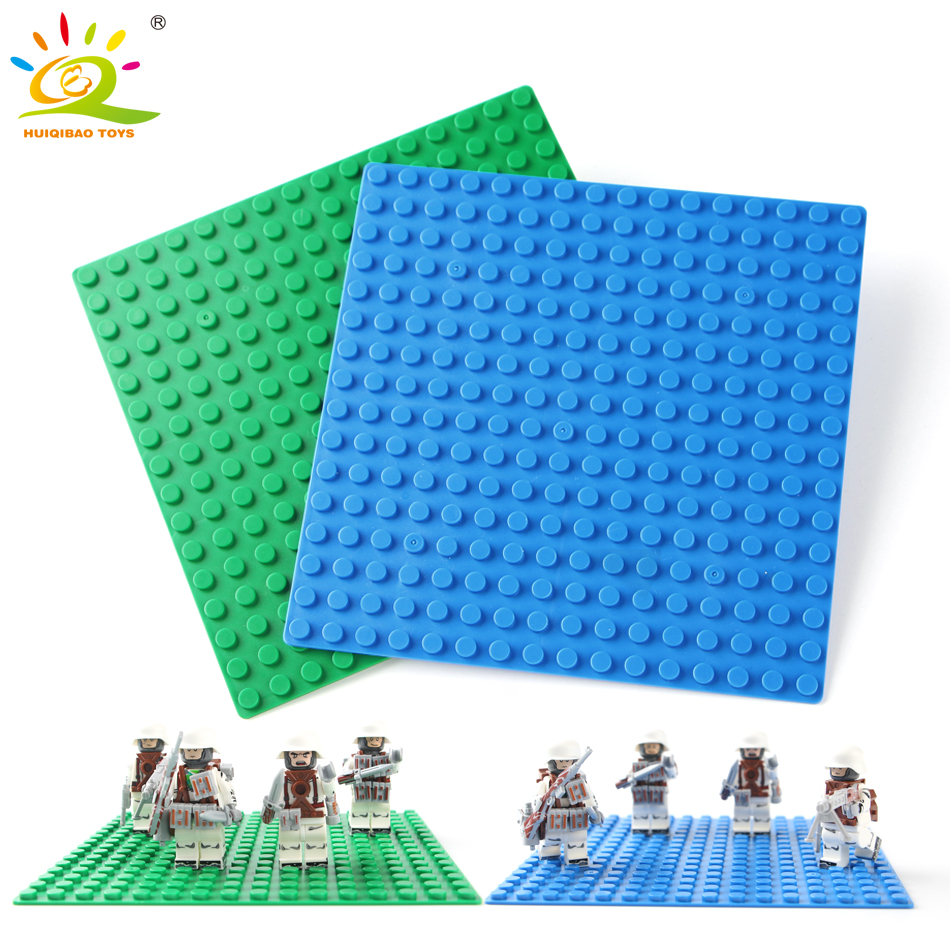 16*16 Dots BasePlate for Small Bricks Compatible Legoed classic city figures Building Blocks Toy For Children Base plate Board