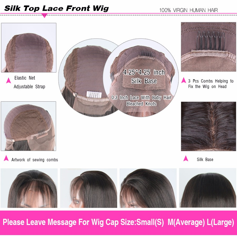 silk lace front wig