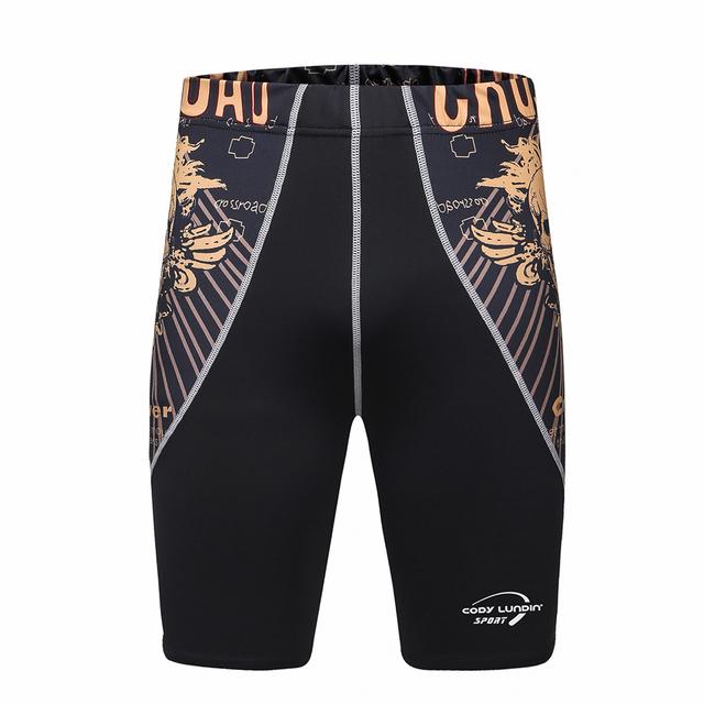 3D Prints men's shorts Compression Shorts for Men Quick Dry Breathable Sweat Short Rashguard MMA Weightlifting short masculino