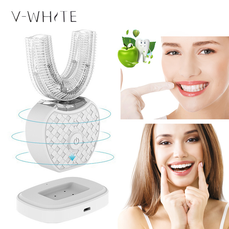 In stock Oral Hygiene Fully automatic rechargeable electric toothbrush Ultrasonic 360 degree intelligent automatic toothbrush