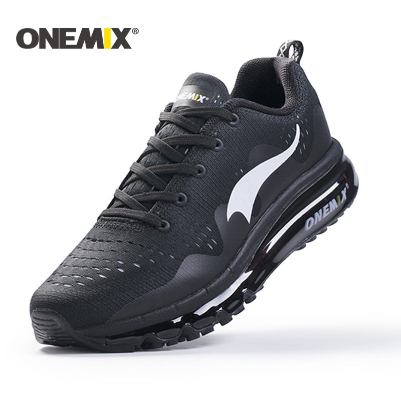 onemix New 2017 Air Sports Running Shoes men cushioning breathable Massage Sneakers for men sport shoes athletic outdoor woman 2017 new style running shoes man cushioning breathable cool textile sneakers red black men light sports shoes