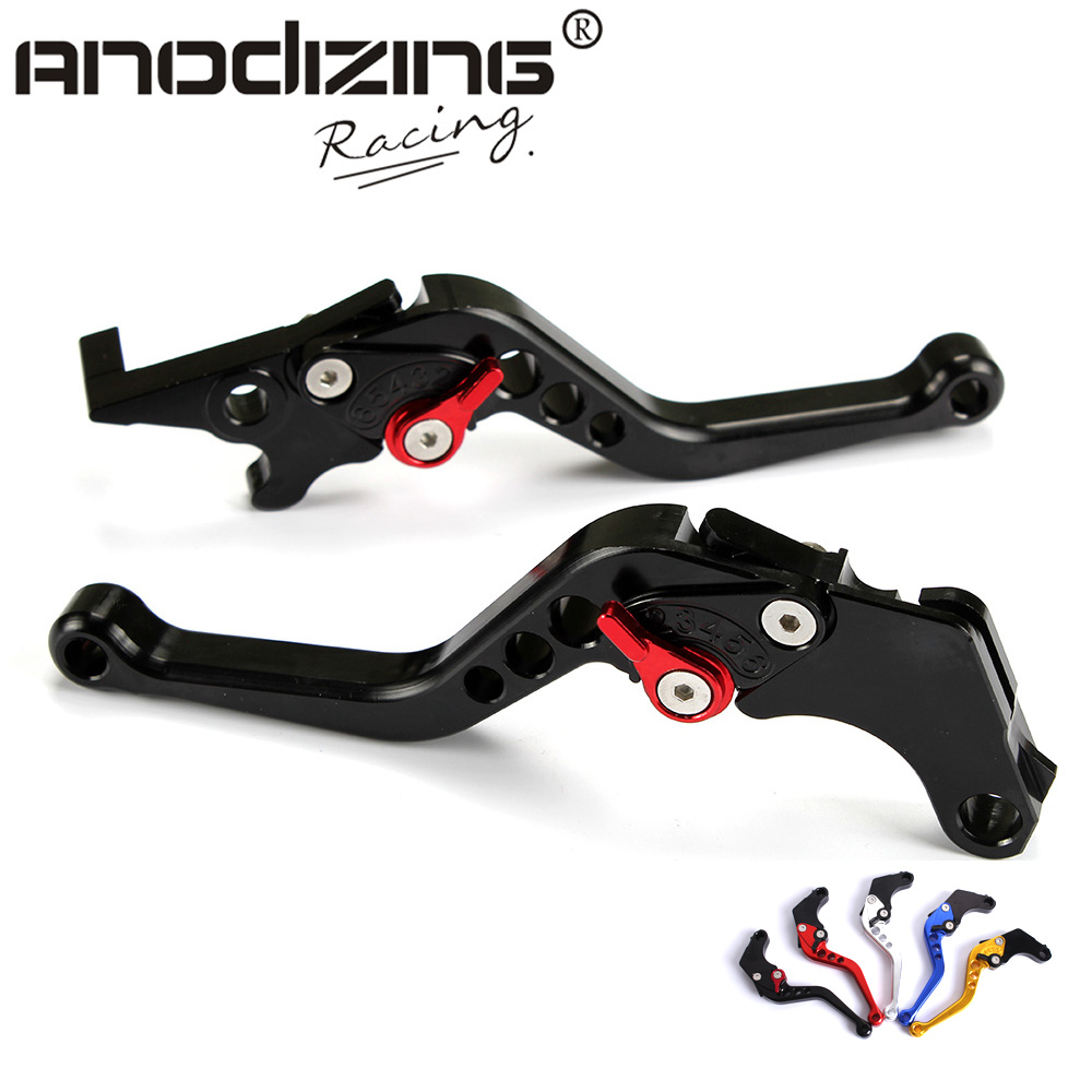 Motorcycle CNC aluminum Shorty Adjustable Brake Clutch Levers For Honda GROM MSX 125 2013 - 2015