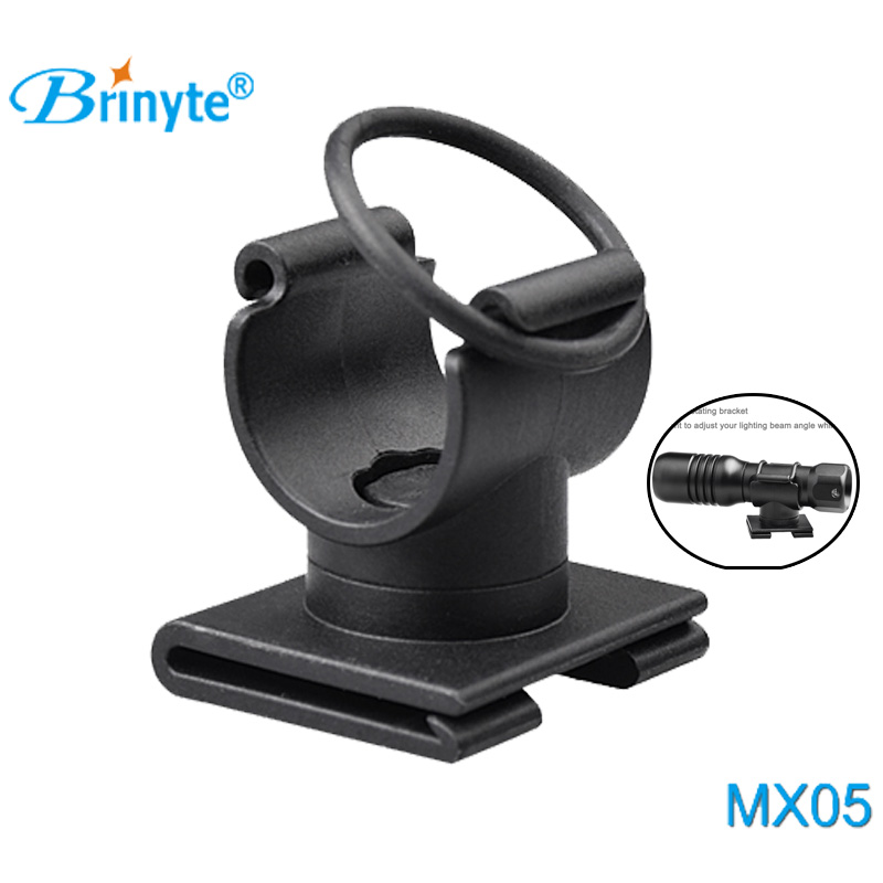 Brinyte MX05 High Quality Dive Torch Mount 20MM 360 Degree Rotating Dive Mask Flashlight Light Bracket Diving Flashlight holder ...