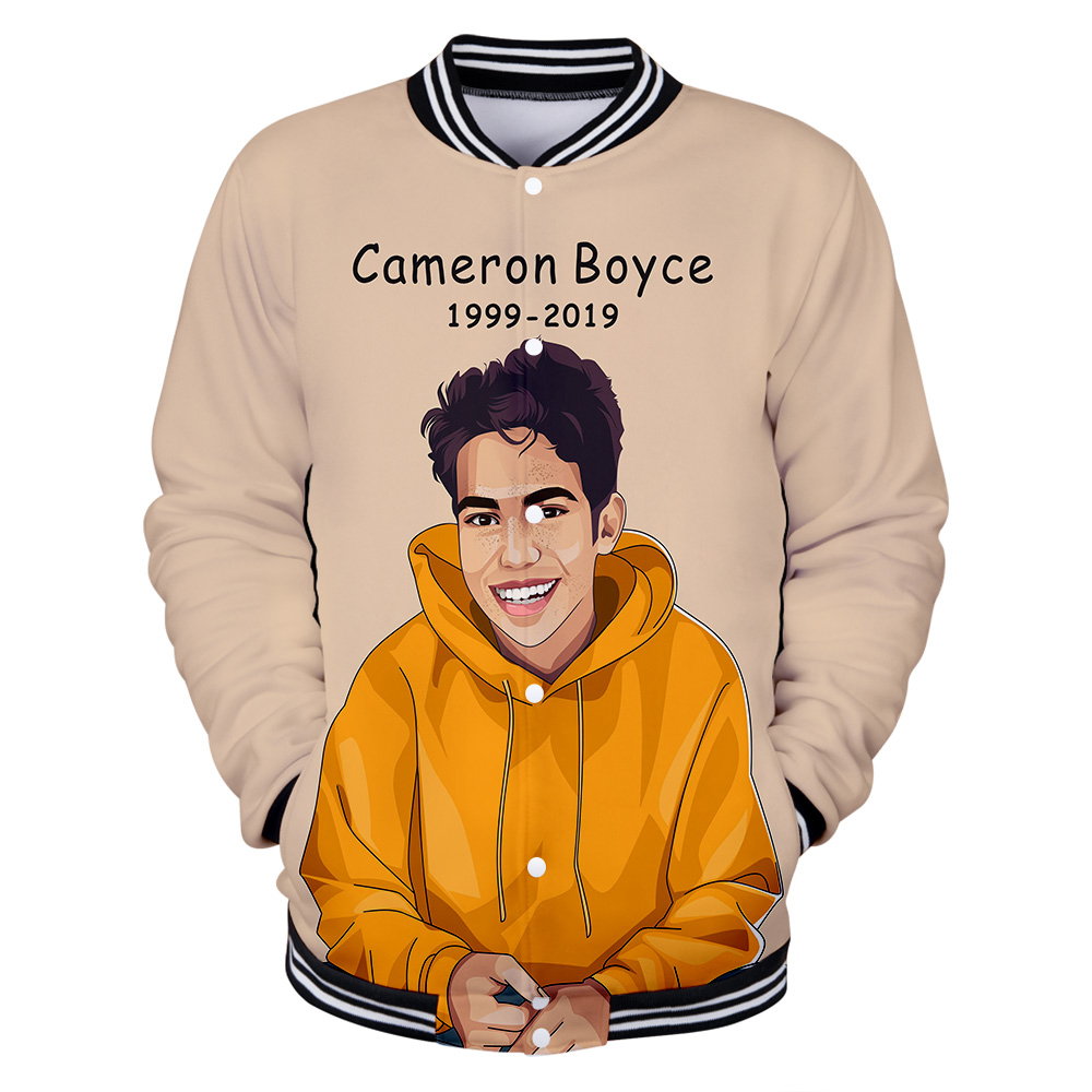 R.I.P. Memorial Descendants Carlos Cameron Boyce 3D print Baseball uniform Men/Women Harajuku Baseball Jackets clothes(China)