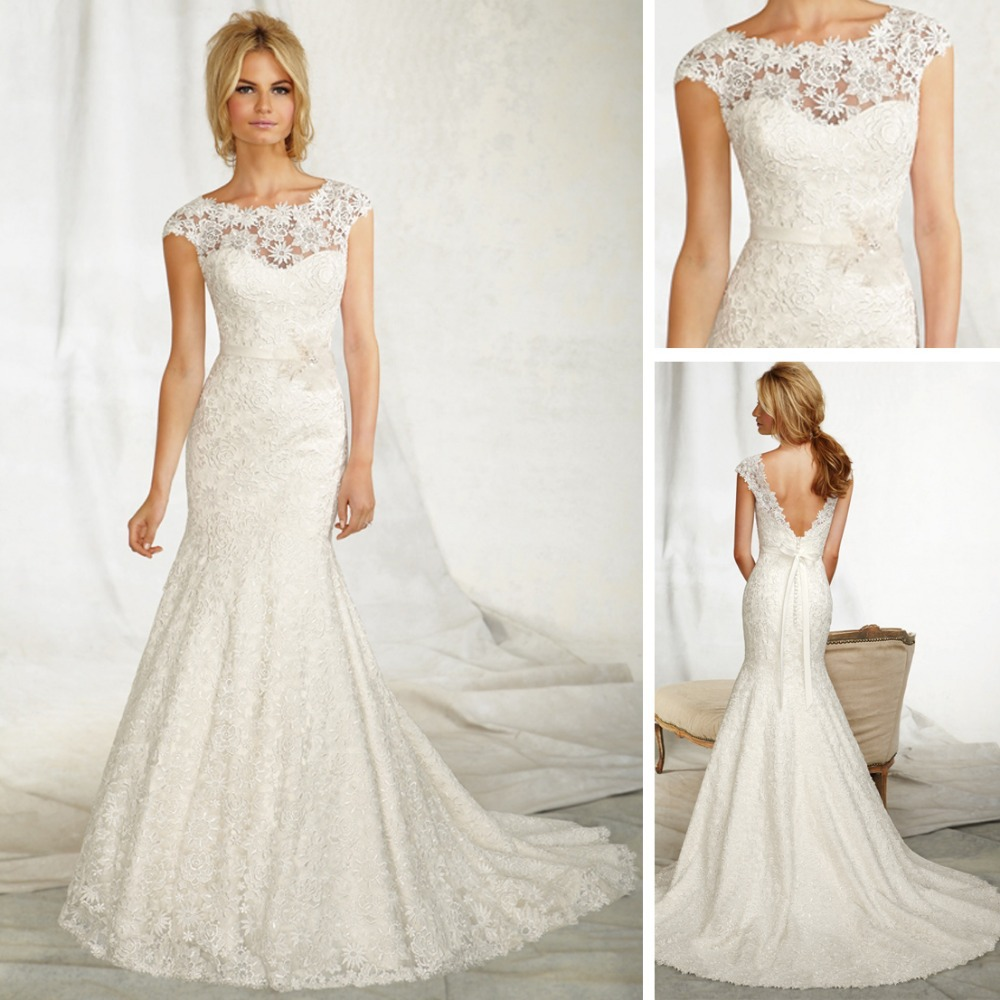 2013 alibaba wedding dress of fishtail lace vintage for Vintage backless wedding dresses