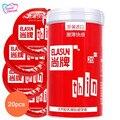 ELASUN Condones Vida Adulta Bote Rojo 20 unids/lote Ultra Thin Condones Lubricados Condones de Látex Natural Doble para Los Hombres Juguetes Sexuales LF-065