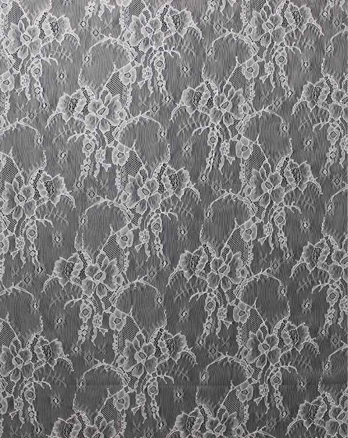 """10 jardas/Lot 150 cm 55 """"Home decorativa cortina de tecido toalha de mesa tecido de renda off white francês chantilly lace para vestido de noiva"""