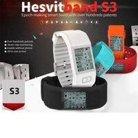 Original Hesvit S3 Smart Bracelet Smart Wristband Sports Fitness Tracker SmartBand Heart Rate Monitor Wrist Skin Temperature
