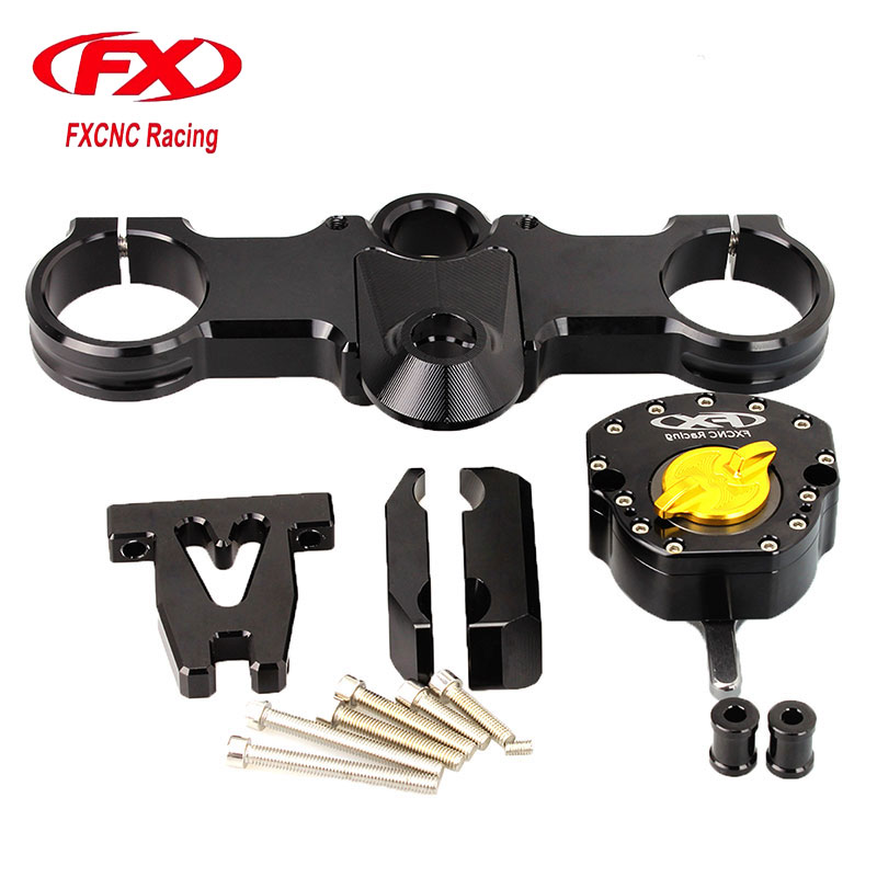 FX CNC Aluminum Adjustable Stabilize Steering Motorcycle Damper With Bracket Mounting Kits Support Fit for KTM RC250 RC390 for honda cbr600rr cbr 600rr 2005 2006 fx cnc aluminum adjustable motorcycle steering stabilizer mounting bracket support kit