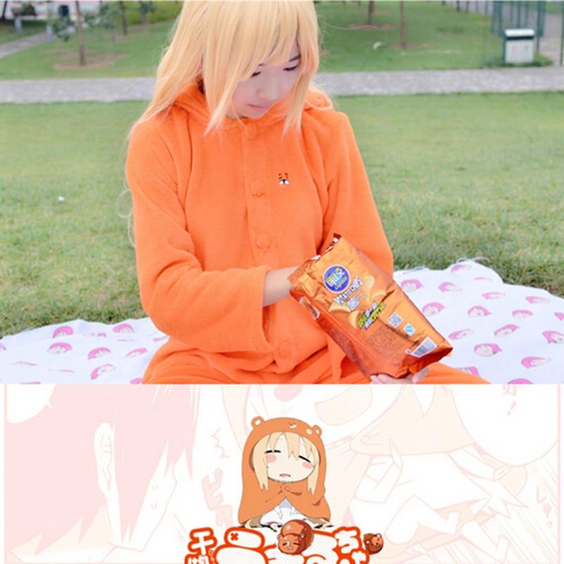 New Arrival Japanese Anime Himouto! Umaru-chan Halloween Costumes For Women Cosplay Onesie Winter Warm Fleece Pyjamas XH020