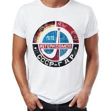 купить Men's T Shirt CCCP Russia Soviet Union USSR Era Space Interkosmos Boctok Rocket Buran Space Shuttle T-Shirt Unisex More Size дешево