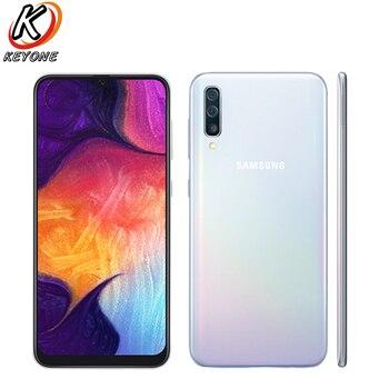 Купить Новый Samsung Galaxy A50 A505GN-DS мобильный телефон 6,4 дюйм6 ГБ ОЗУ 128 Гб ПЗУ Exynos 9610 Восьмиядерный три задние камеры Android 9,0 телефоны