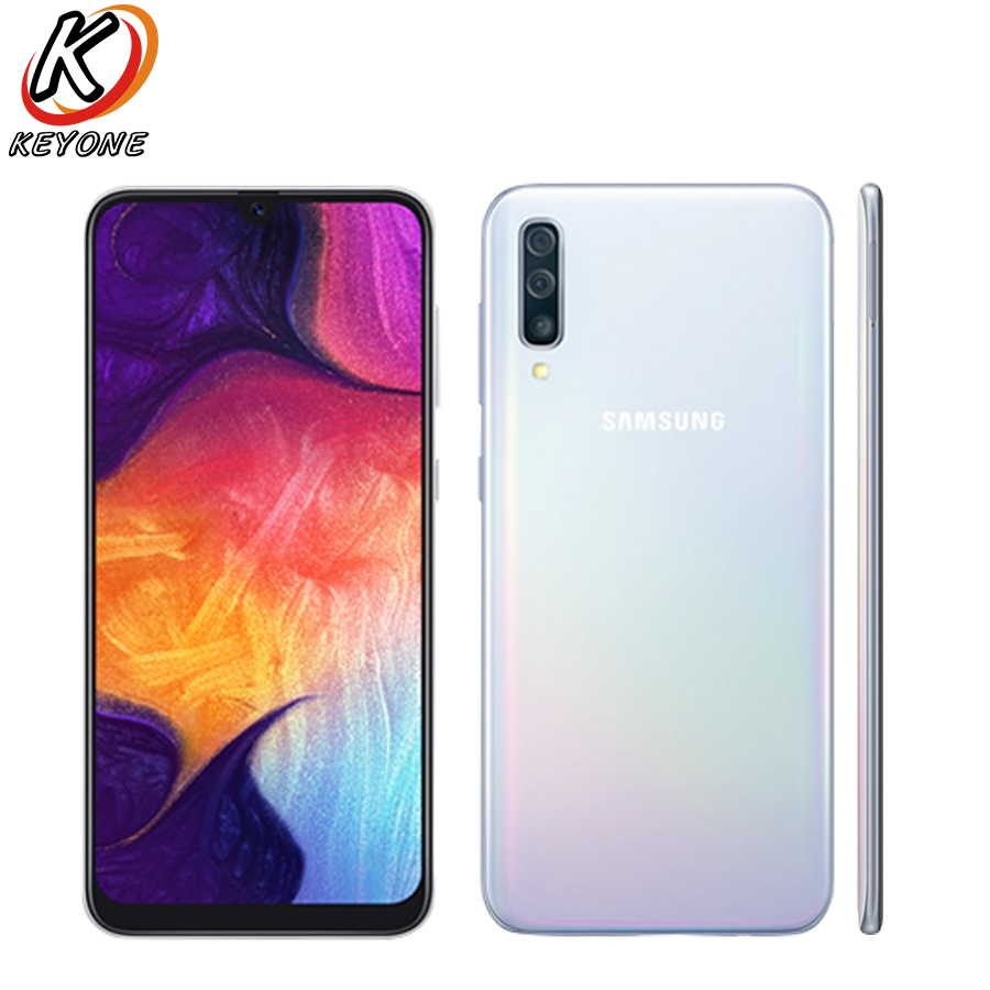 """Frank New Samsung Galaxy A50 A505f-ds 4g Mobile Phone 6.4"""" 6gb Ram 128gb Rom Exynos 9610 Octa Core Three Rear Camera Android 9.0 Phone Refreshing And Enriching The Saliva"""