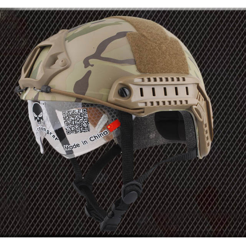 Emerson FAST Helmet With Protective Goggle MH Type sports safety Military airsoft helmet airsoft helmet emerson fast helmet with protective goggle pj type fg green em8819