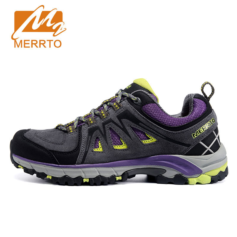 MERRTO Women Genuine Leather Hiking Shoes Breathable Climbing Walking Shoes Hunting Athletic Outdoor Waterproof Sneakers ship from ru merrto winter cowhide man outdoor hiking shoes fishing athletic trekking boots waterproof climbing walking sneasker