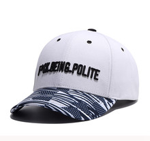 HipHop moda carta sombrero bordado algodón gorra de béisbol para hombres  mujeres marca Hip Hop deportes sombrero plano sol béisb. 35441965a5f