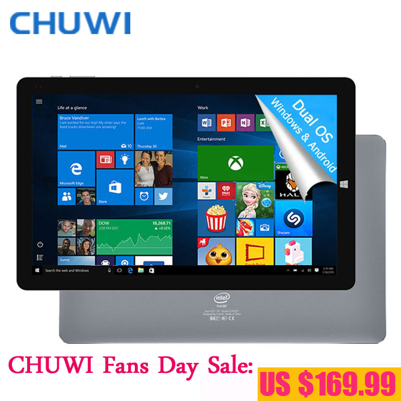 Prix pour CHUWI Fans Jour! 10.8 Pouce CHUWI Hi10 Plus Tablet PC Windows 10 Android 5.1 double OS Intel Atom Z8350 Quad Core 4 GB RAM 64 GB ROM