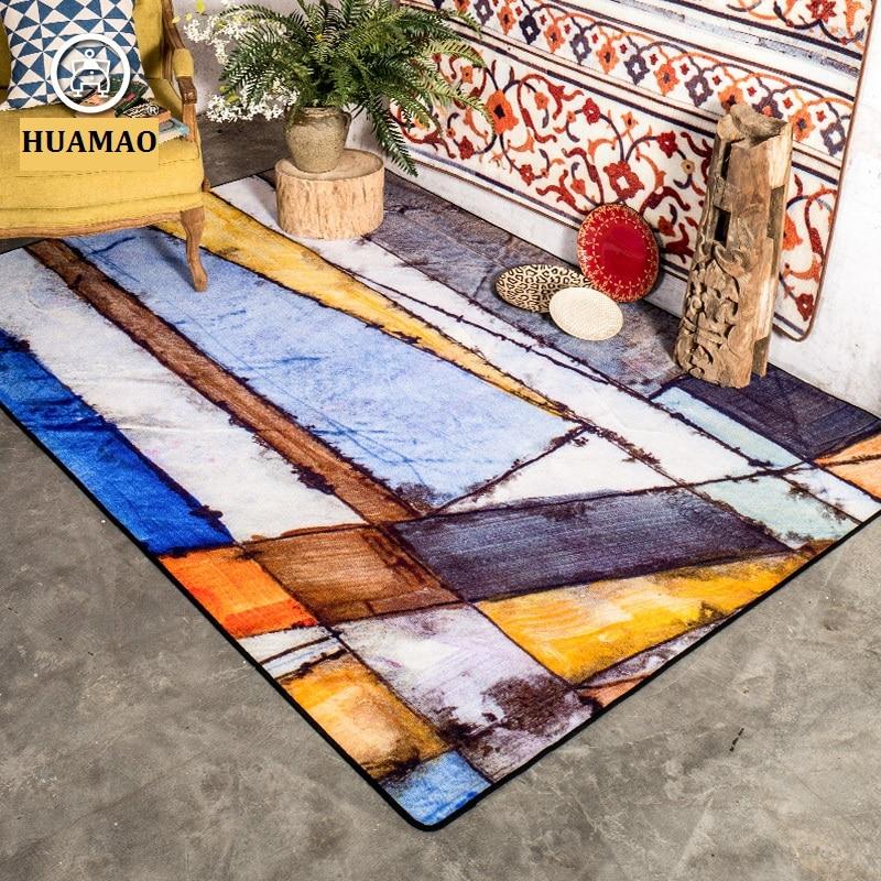 HUAMAO 200*300cm Big Water Wash Living Room Carpet Kid Room Floor Mat Thick Bedroom Rug For Home Decor and Prayer Blanket