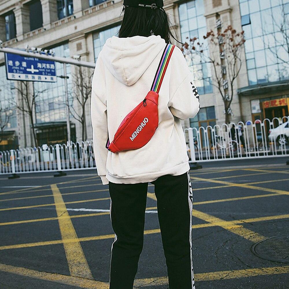 MENGHUO Étanche Fanny Pack Hanche Taille Pack Sac Ceinture Poche Unisexe  Taille Sac De Mode Femmes PU Hologramme D argent Ceinture Voyage caissier  dans ... 71b28338d72