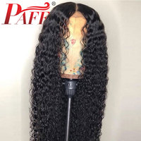 PAFF Curly Silk Top Lace Front Human Hair Wigs Brazilian Remy Hair Glueless Lace Wigs with baby hair Pre Plucked Free Shipping
