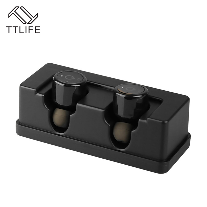 TTLIFE 4.1 EDR Mini Bluetooth Earphone Noise Cancelling Sport Stereo Music Charging Box Earbud with Mic for Phones Xiaomi 2017 ttlife mini wireless earphone bluetooth headsets airpods with mic 2 in 1 with car charger for iphone 7 xiaomi mobile phones