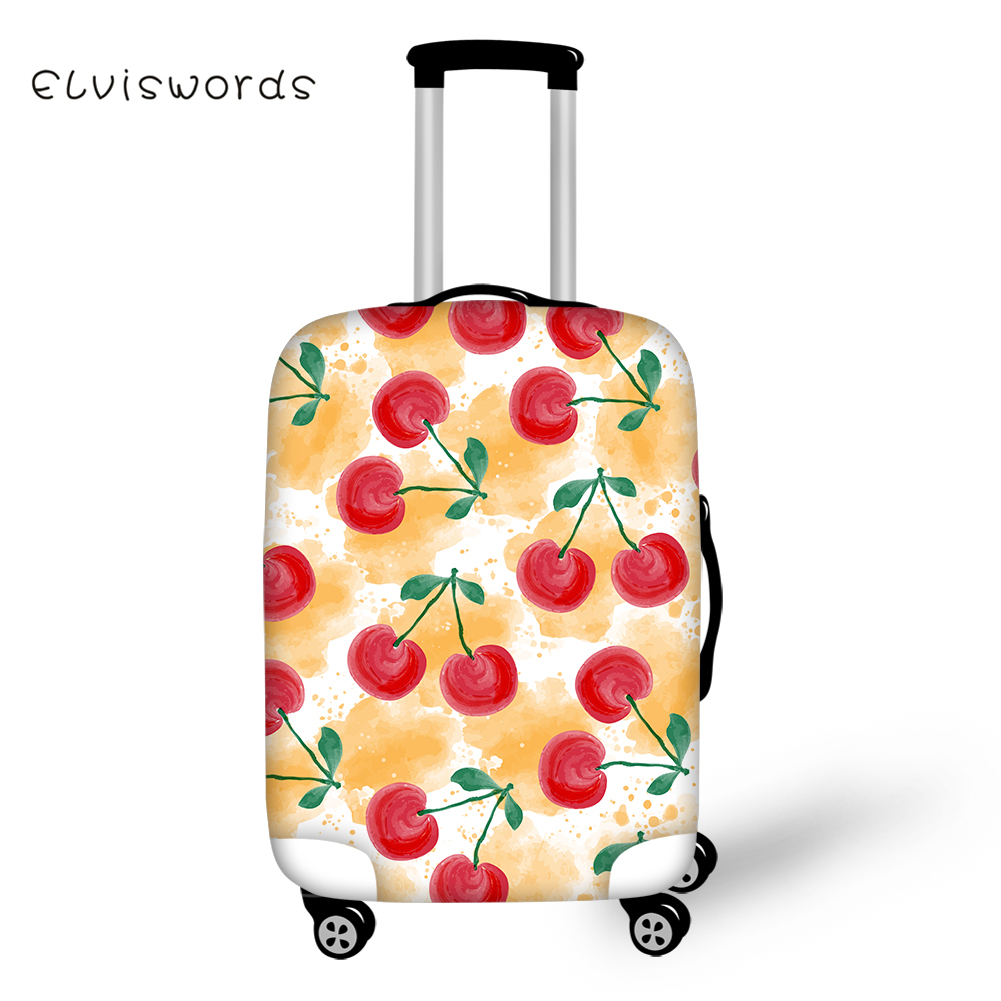 ELVISWORDS Travel Luggage Cover Cute Food Pattern for Suitcase Protective Cover Elastic Stretch to 18 39 39 30 39 39 Case Dust Protector in Travel Accessories from Luggage amp Bags